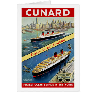 Cunard Europe to all America Card