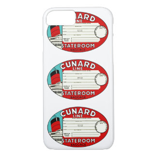 Cunard Line Luggage Label iPhone 7 Case
