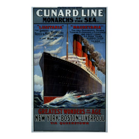 Cunard Line Monarchs of the Sea Poster