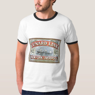 Cunard Line New York Liverpool 1875 T-Shirt