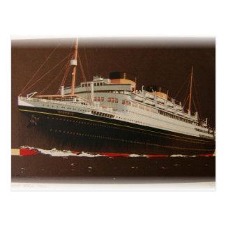 Cunard Lines 1930 s Postcard