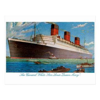 Cunard White Star Line's Queen Mary Postcard