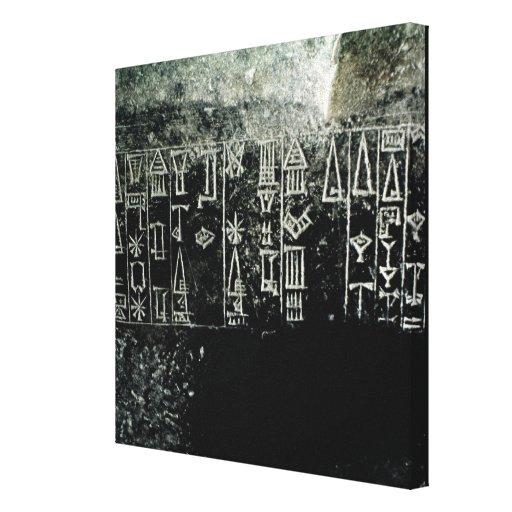 Cuneiform script stretched canvas print