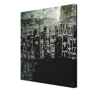 Cuneiform script canvas print
