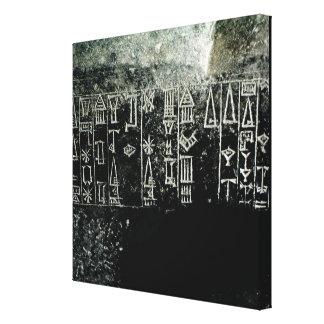 Cuneiform script gallery wrapped canvas