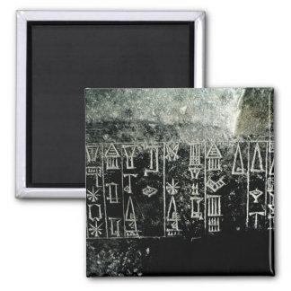 Cuneiform script magnet