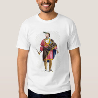 Cunne Shote, Chief of the Cherokees, 1780 (coloure Tshirt