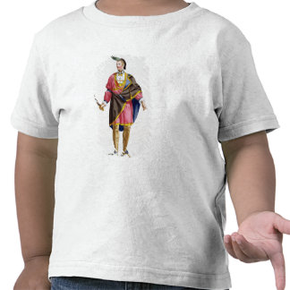 Cunne Shote, Chief of the Cherokees, 1780 (coloure Tee Shirt