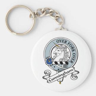 Cunningham Clan Badge Basic Round Button Key Ring