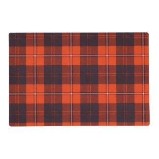 Cunningham clan Plaid Scottish tartan Laminated Place Mat