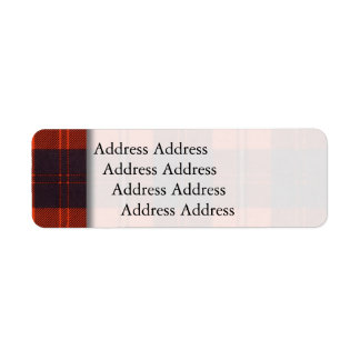 Cunningham clan Plaid Scottish tartan Return Address Label