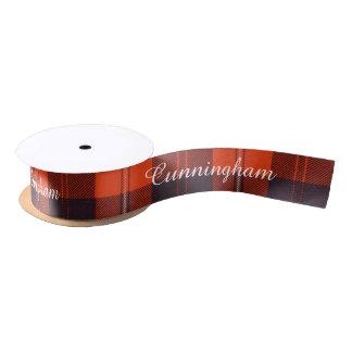 Cunningham clan Plaid Scottish tartan Satin Ribbon