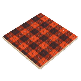 Cunningham clan Plaid Scottish tartan Wood Coaster