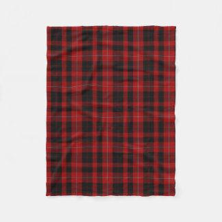 Cunningham Clan Tartan Plaid Fleece Blanket