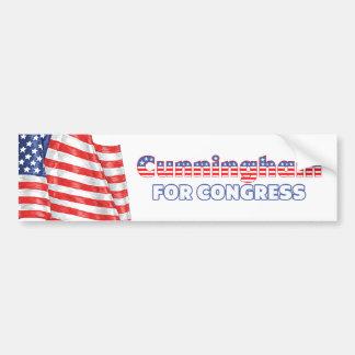 Cunningham for Congress Patriotic American Flag Bumper Sticker