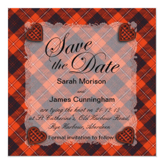 Cunningham Scottish clan tartan - Plaid Card