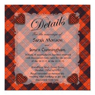 Cunningham Scottish clan tartan - Plaid 5.25x5.25 Square Paper Invitation Card