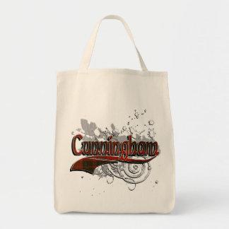 Cunningham Tartan Grunge Tote Bag