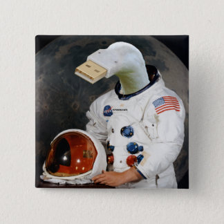 Cunningulen the Astronaut 15 Cm Square Badge