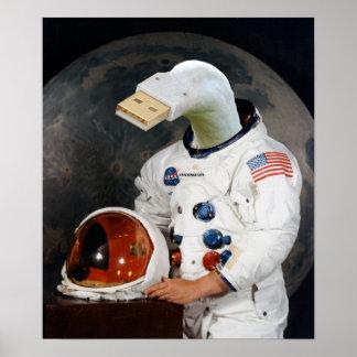 Cunningulen the Astronaut Poster