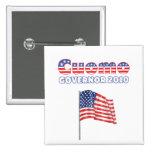 Cuomo Patriotic American Flag 2010 Elections Pins