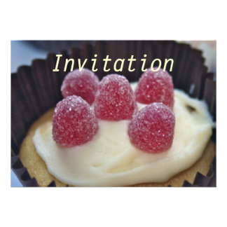 Cup Cake with Jellies on top Invitation