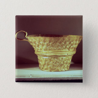Cup found in a tholos tomb at Peristeria 15 Cm Square Badge