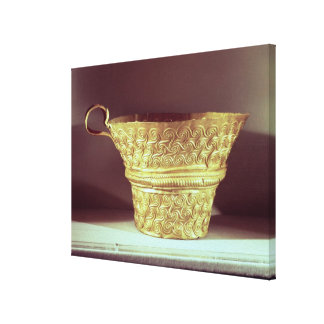 Cup found in a tholos tomb at Peristeria Canvas Print