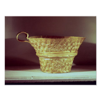 Cup found in a tholos tomb at Peristeria Poster