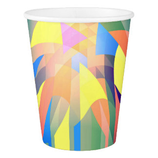 cup of abstract paper