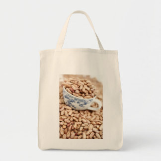 Cup of beans grocery tote bag