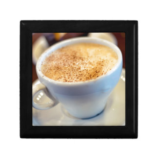 Cup of cappuccino gift box