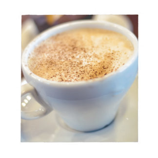 Cup of cappuccino notepads