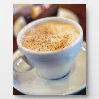 Cup of cappuccino plaque