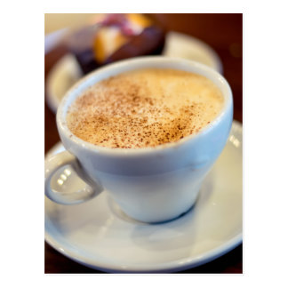 Cup of cappuccino postcard