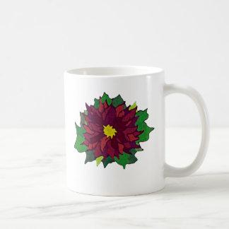 Cup of Christmas Cheer poinsettia coffee mug