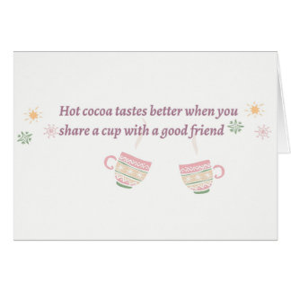 Cup of Cocoa Card