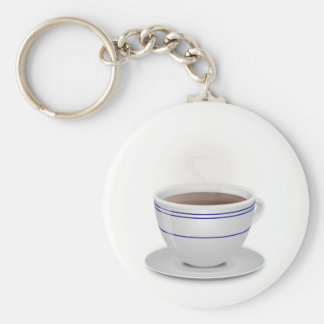 Cup of Coffee Basic Round Button Key Ring