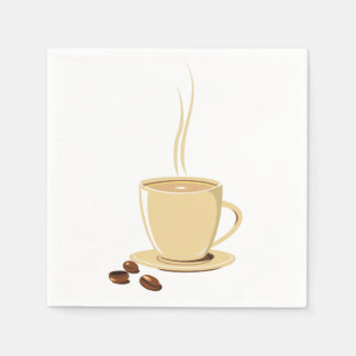 Cup of Coffee Disposable Serviette