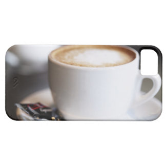 cup of coffee latte on table, close-up iPhone 5 cover