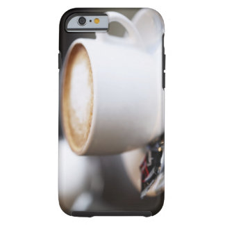 cup of coffee latte on table, close-up tough iPhone 6 case