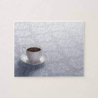 cup of coffee on table jigsaw puzzle