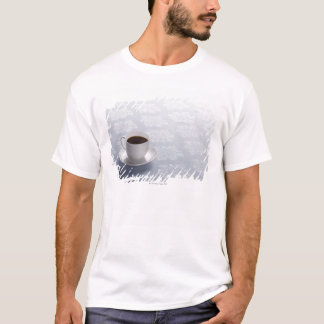 cup of coffee on table T-Shirt