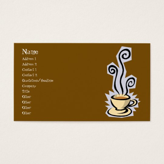 Cup of Coffee or Tea Business Card