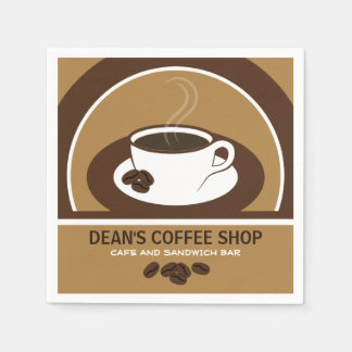 Cup of Coffee Shop Cafe Cocktail Paper Napkins