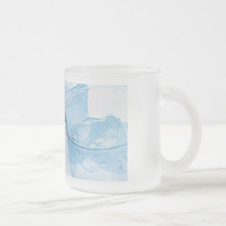 "Cup of ""cool "" frosted glass mug"