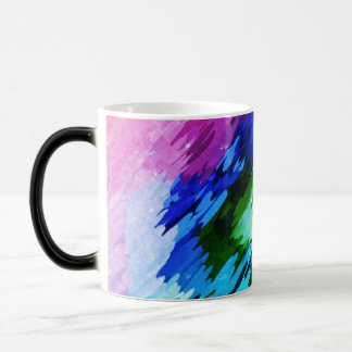 Cup of formation abstractly multicolored morphing mug
