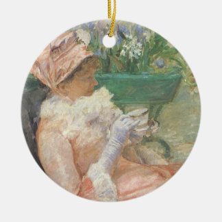 Cup of Tea by Mary Cassatt, Vintage Impressionism Christmas Ornament