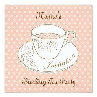 Cup of Tea Invitation, personalised Card