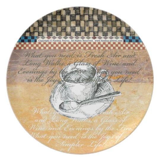 Cup of Tea - Melamine Plate (2)